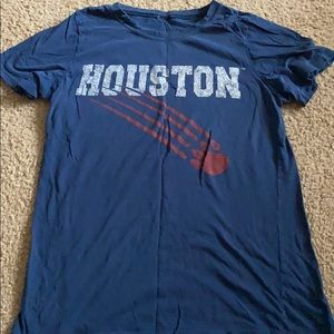Urban outfitter blue red Houston cougars vintage t